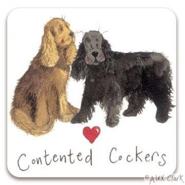 Alex Clark Contented Cockers Magnet