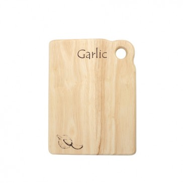 Garlic board in hevea - 200mm x 150mm x 15mm