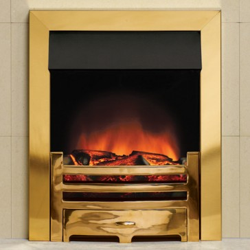 Logic Electric Fire Box Profil – Brass effect