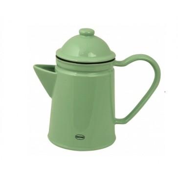 Vintage Green Ceramic Coffee Pot