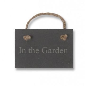 In the Garden - Slate Sign