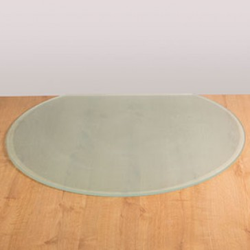 Flat back Circle Glass Hearth Opaque