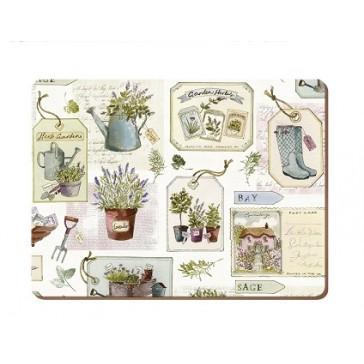 Set of 6 Herb Garden Standard Placemats