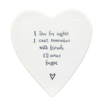 Friends I'll Never Forget Porcelain Heart Coaster