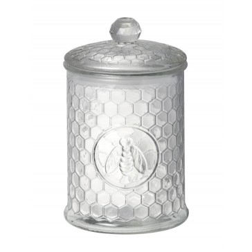 Airtight Large Honeycomb Glass Jar by Parlane - Storage Canister