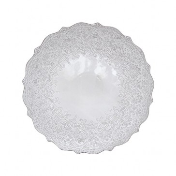 Lace Embossed Coupe Serving Plate by Katie Alice