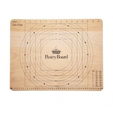 Wooden Pastry Board with Imperial and Metric Measurments