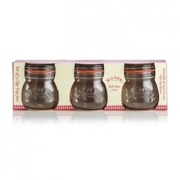 Set of 3 Clip Top - 0.5L - Kilner Preserving Jars