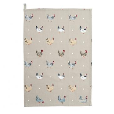 Lay a Little Egg Cotton Tea Towel by Sophie Allport