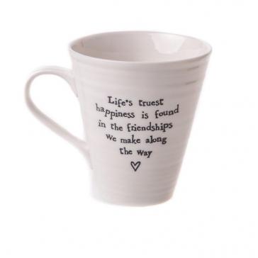 Life's Truest Happiness Porcelain mug