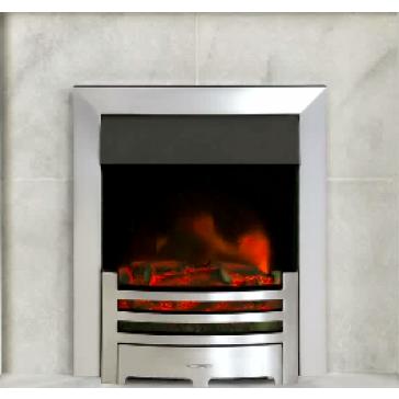 Logic Electric Fire Box Profil – Polished Steel Effect