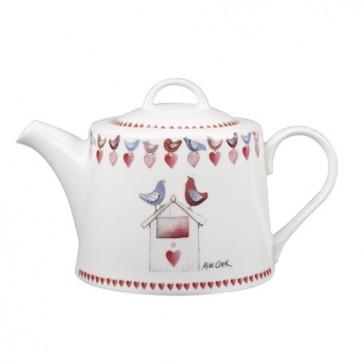 Alex Clark Lovebirds Teapot