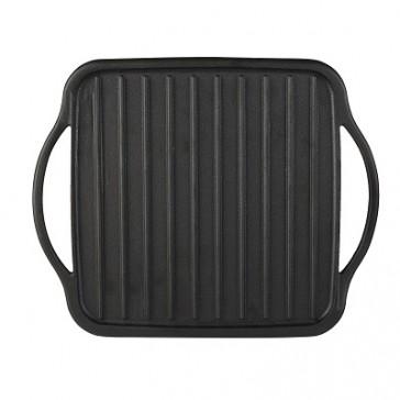 Cast Iron Double Burner Reversible Grill/ Griddle
