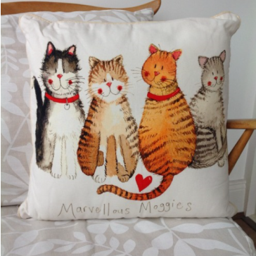 Alex Clark Marvellous Moggies Cushion