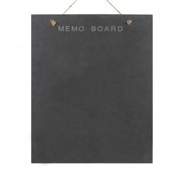 Slate Memo Board - rectangular, wall hung