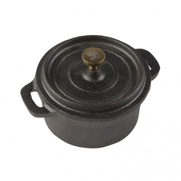 Sabatier Maison Small Round Cast Iron Casserole Dish by Creative Tops