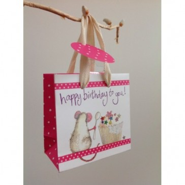 Mouse Birthday Small Gift Bag by Alex Clark.