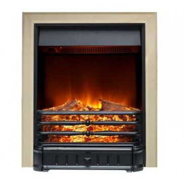 Normanton Electric Fire in Black & Brass