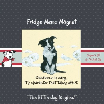 The Little Dog Obedience Magnet