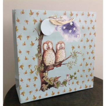 Owls Large Gift Bag by Alex Clark