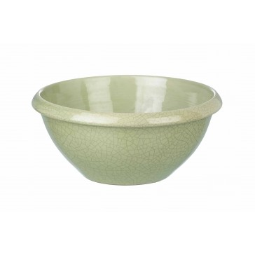 Large Green Crackled Glaze Bowl by Parlane - For Decoration Only