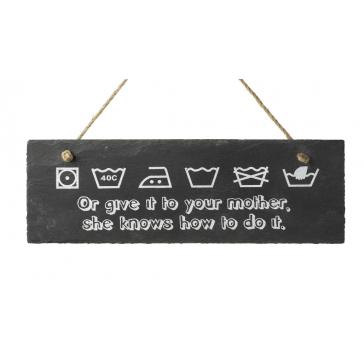 Slate Wash Care Sign