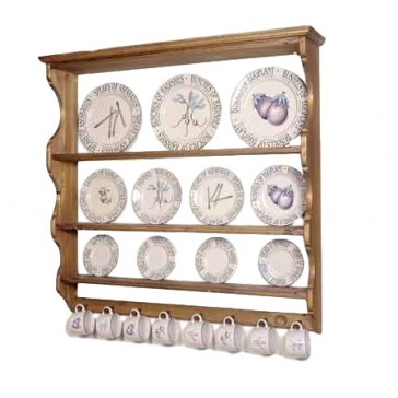 Penny Pine Plate Rack Display | Traditional Pine Wall Mounted Display Unit | Somerset Pine Display for Plates  sc 1 st  Arcade Wales Wood-burning u0026 Multi-Fuel Stoves & Penny Pine Plate Rack Display | Traditional Pine Wall Mounted ...