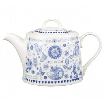Blue & White Penzance Fine China Teapot