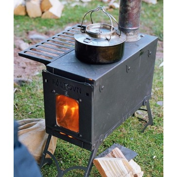 Faltovn outdoor wood stove with cook top