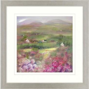 Pink Meadows 1 Framed Print by Kanita Sim
