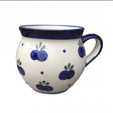 Polish Pottery Barrel Mug in Blueberry by Boleslawiec