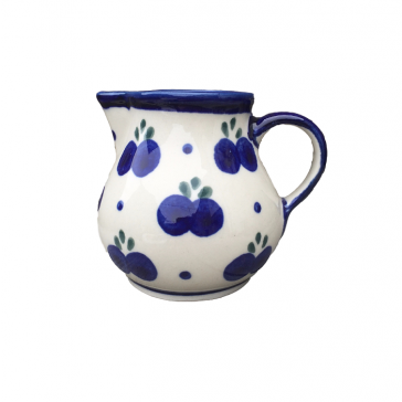 Polish Pottery Cream Jug with Blueberry Pattern - Boleslawiec Pottery