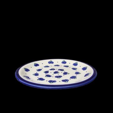 Boleslawiec Polish Pottery Dinner Plate in Blueberry
