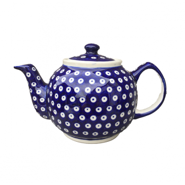 Boleslawiec Frogeye patterned Large Teapot - Polish Pottery