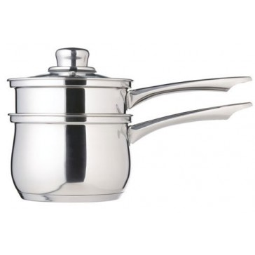 Kitchen Craft Stainless Steel Porringer with glass lid