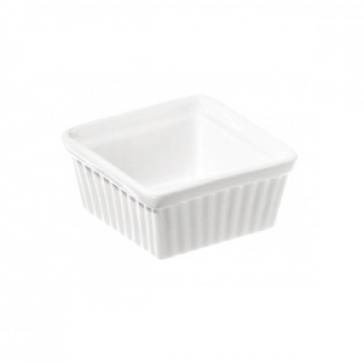 Square white ramekin - 9cm x 9cm