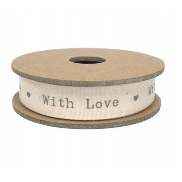 With Love - Fabric Gift Ribbon