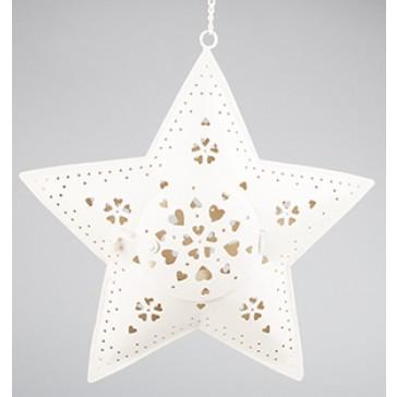 Outdoor Hanging Star Tealight Holder