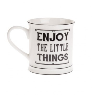 Enjoy the little things mug