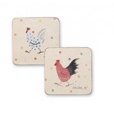 Alex Clark design Rooster Coasters