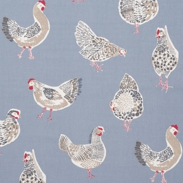 Rooster Denim PVC Table Cloth