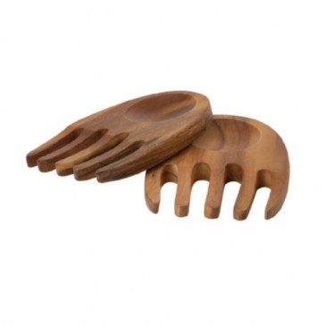 Acacia wood salad hands - 150mm long