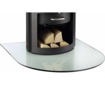 Semi Circular Glass Hearth / Glass Floor Plate for Wood-burning Stove