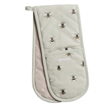 Bees Double Oven Glove by Sophie Allport