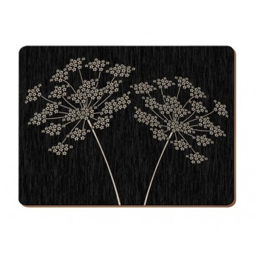 Silhouette Place Mats - Set of 6 Identical Table Protectors