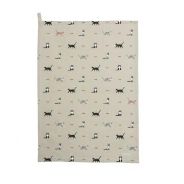Sophie Allport Purrfect Tea Towel - Cat Print
