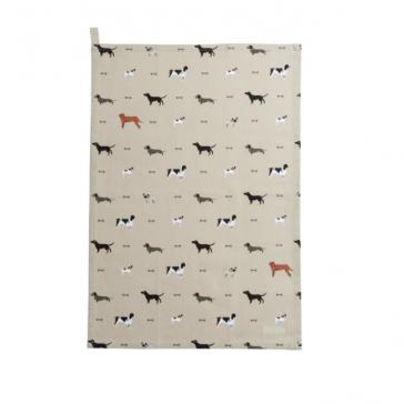 Woof! Tea Towel by Sophie Allport