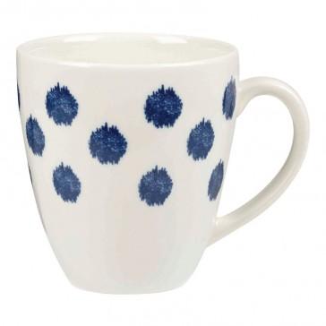 Crush Blue and White Spottie Mug - Churchill China