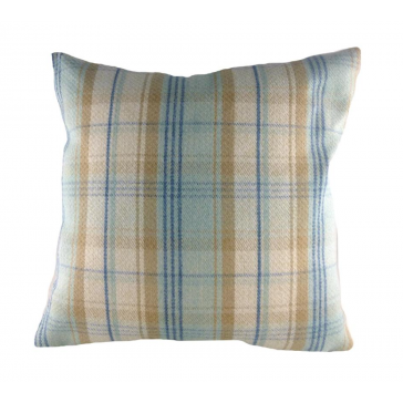 Stirling Check Blue Cushion