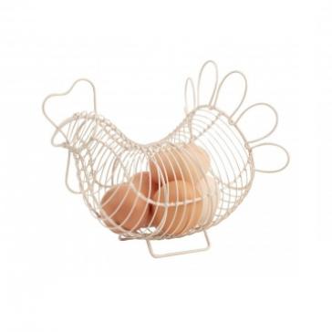 Small wire Chicken egg store in cream